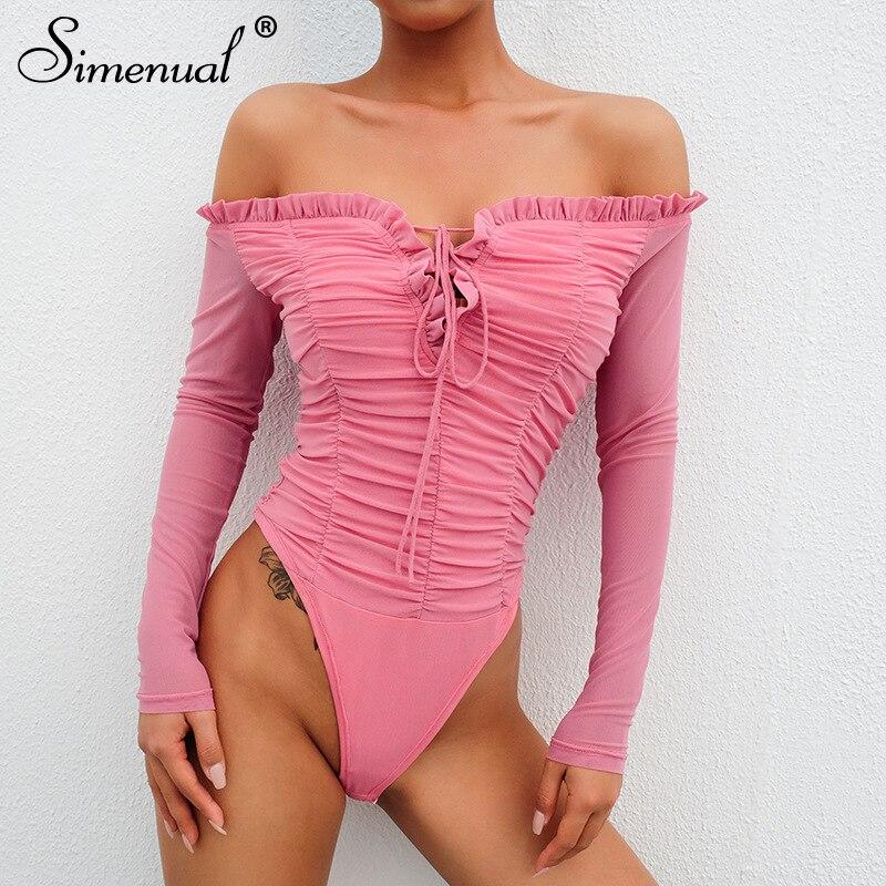 Bodysuits Spring Summer New Short Sleeve V-neck Leotard Bodysuit Slim Fit Body Women Sexy Streetwear Bodysuits Hot Sale 50-70% OFF