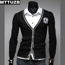 MTTUZB Man spring autumn fashion long sleeve sweaters men's casual slim cardigan clothing men outwear costume male apparel