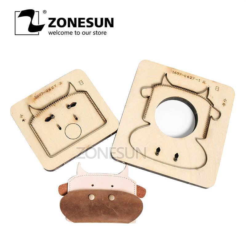 ZONESUN индивидуальные телячья форма кожаный кошелек изменить минималистичный