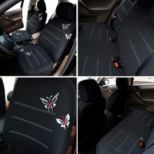 New Embroidered Butterfly Auto Car Seat Cover Universal Fit Car Accessories Car Interiors Seat Covers Black Covers Most Cars