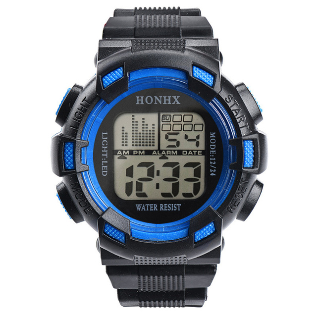 Good Watches Mens Watch Top Brand Luxury 2018Stainless Steel LED Digital Date Wa