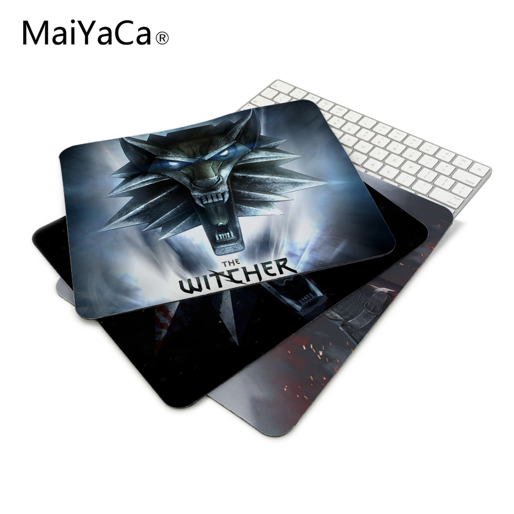 The Witcher Rise of the White Wolf Logo Mouse Pad Computer Gaming Mouse Pad Gamer Mouse Mats