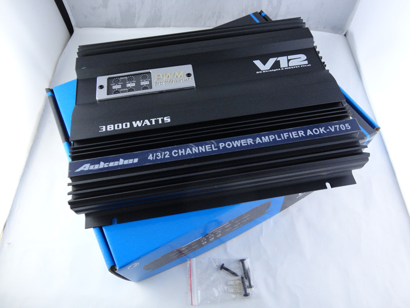 High Power 3800Watts  4 Channel Car amplifier V12  Audio  high power car amplifiers  high power dropshipping high quality kl audio 12 channel 8 x 4 channel 50 pro audio low profile stage box snake cable 8x4x50