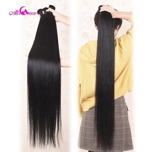 Image 3 - עלי קוקו שיער 30 אינץ 32 34 36 38 אינץ 40 אינץ חבילות לארוג ברזילאי שיער ישר רמי שיער טבעי צרור להתמודד טבעי צבע