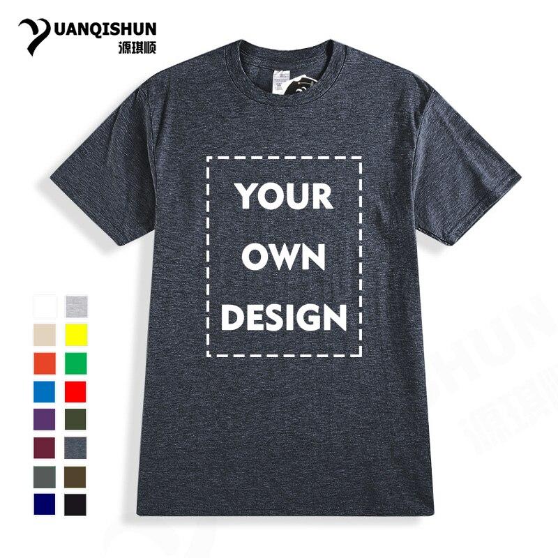 2018 su propio logotipo de marca de diseño/imagen de alta calidad Casual personalizado hombres y mujeres camiseta Unisex talla grande camiseta envío gratis