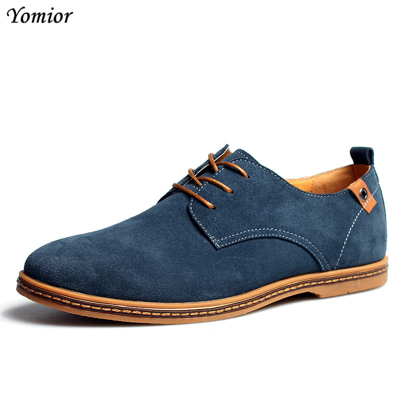 Handmade Mens Casual Shoes Fashion Cow Suede Leather Shoes Men Loafers Moccasins Men's Flats Male Driving Wedding Shoes Big Size klywoo plus size 38 46 men loafers leather shoes fashion mens casual driving boat shoes slip on handmade new shoes men moccasins
