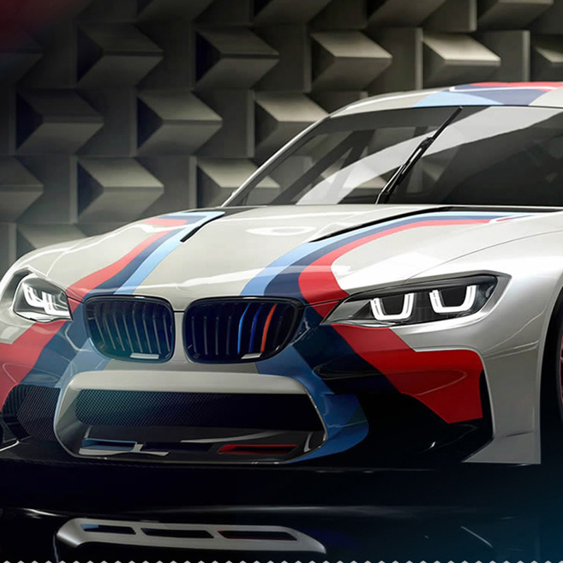 Us 0 8 30 Off 3pcs Kidney Grille Sticker 25x5cm Sport Stripe 3 Colors Red Blue And Deep Blue For Bmw E46 M3 M5 M6 Car Styling In Car Stickers From