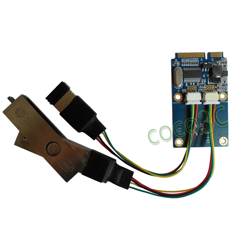 Free Shipping 10pcs Mini Pcie To Dual Usb Adapter