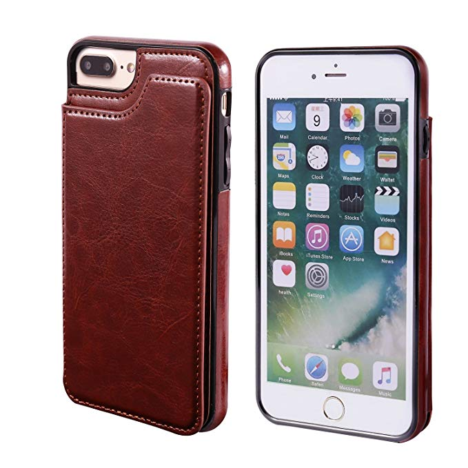 HTB1utjTavc3T1VjSZLeq6zZsVXag Luxury Slim Fit Premium Leather Cover For iPhone 11 Pro XR XS Max 6 6s 7 8 Plus 5S Wallet Case Card Slots Shockproof Flip Shell