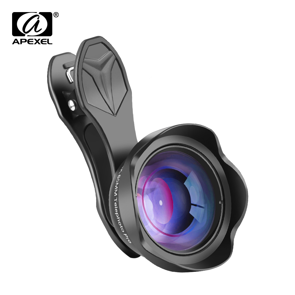 APEXEL 65mm Portrait Lens 3X HD Telephoto Lens Professional Mobile Phone Camera Lens for iPhone, Samsung Android Smartphone mobile phone
