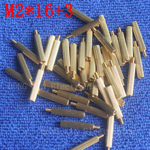 M2*16+3 1Pcs brass Standoff 16mm Spacer Standard Male-Female brass standoffs Metric Thread Column High Quality 1 piece sale