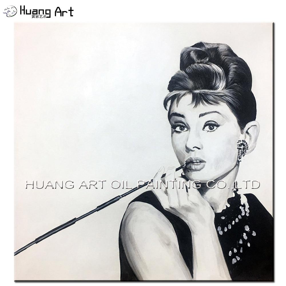 Audrey Hepburn and marilyn monroe Pop art style Oil Painting On ...