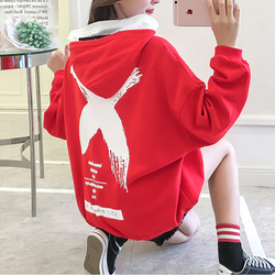 Autumn and winter new hoodies women long-sleeved fashion printing rabbit casual sweatshirt Russia hot explosion women's top 2018 4