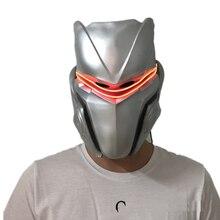 Yacn Omega маска со светодиодный светильник латексная маска для косплея Хэллоуин Вечерние Маски костюм для мужчин Взрослый Воин шлем Рыцарь полная голова