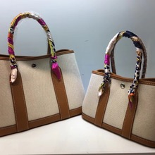 2018 classic casual patchwork tote famsous brand women canvas&genuine leather ga
