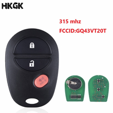 3 Buttons Remote Car Key Fob For Toyota Tacoma HIGHLANDER SEQUOIA Sienna Tundra GQ43VT20T 315Mhz