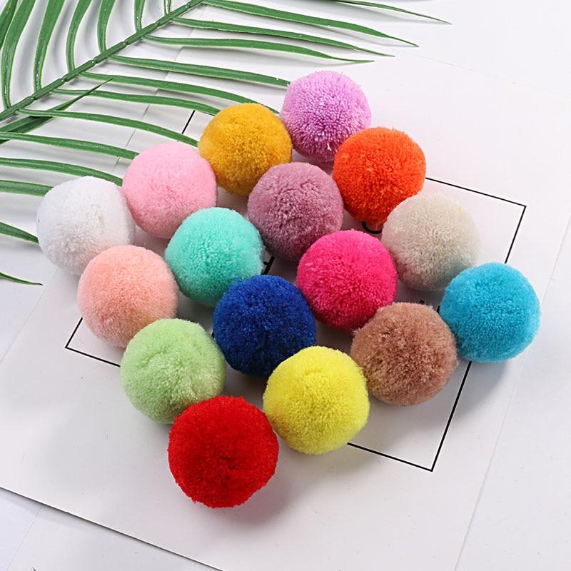 Multi Size Pom 15mm 20mm 30mm 40mm Soft Pompones Fluffy Plush Crafts DIY Pom Poms Ball Furball Home Decor Scarf Sewing Supplies