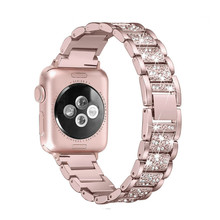 For Apple Watch band 40mm 44mm 38mm 42mm women Diamond Band for  series 4 3 2 1 iWatch bracelet stainless steel strap blinglin women s diamond watch band for apple watch 38mm 42mm 40mm 44mm stainless steel strap series 4 3 2 1 wrist band bracelet