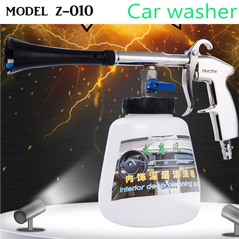 freeshipping Car Wash gun Z-010 Black Tornador Car cleaning gun Air Opearted Car Wash Equipment Tornado gun good quality car wax wash cleaning polishing expanding sponge pad yellow