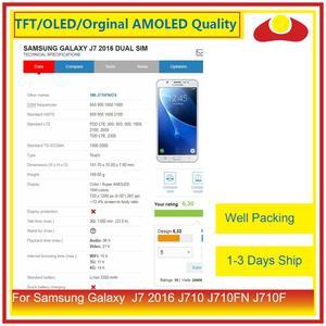 Image 2 - 50 ชิ้น/ล็อตสำหรับ Samsung Galaxy J7 2016 J710 J710FN J710F J710 จอ lcd หน้าจอแผง Digitizer Pantalla ที่สมบูรณ์แบบ