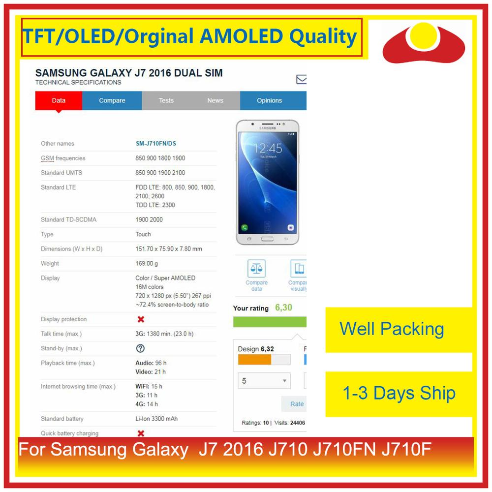 Image 2 - 50Pcs/lot For Samsung Galaxy J7 2016 J710 J710FN J710F J710 LCD Display With Touch Screen Digitizer Panel Pantalla Complete-in Mobile Phone LCD Screens from Cellphones & Telecommunications