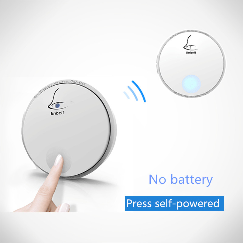 Linbell G2 Wireless Self-powered Doorbell Waterproof with Receivers Door Bell 38 Chimes 100m Range for Home Office Free ShippingLinbell G2 Wireless Self-powered Doorbell Waterproof with Receivers Door Bell 38 Chimes 100m Range for Home Office Free Shipping
