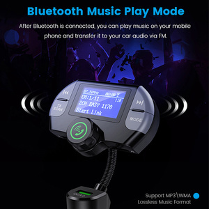Image 5 - G21 QC3.0 Dual USB Ports Car Charger DAB Receiver Mp3 player Bluetooth Wireless Hands free Call FM Transmitter Car Kit