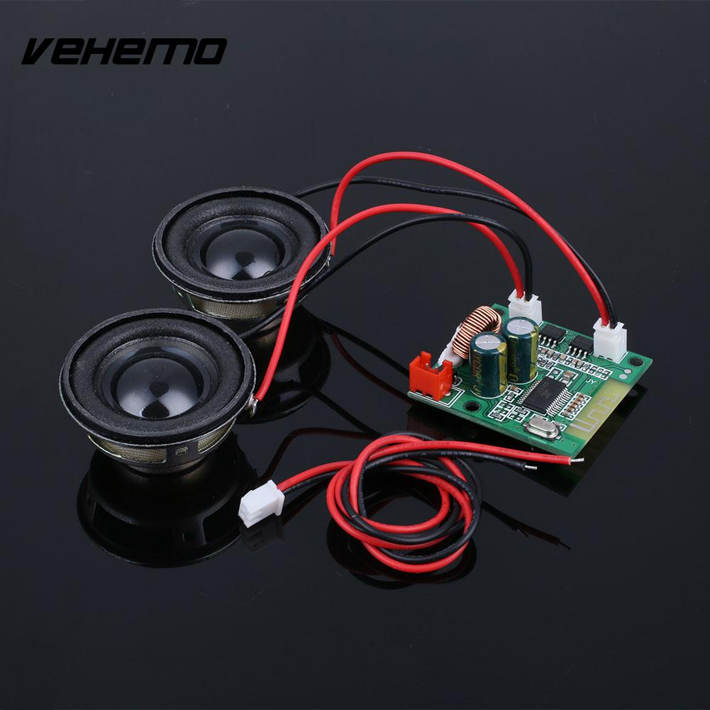 Mini Bluetooth Amplifier Board Double Speakers Receiver Self Vehicle Unicycle