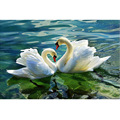 Home beauty 3d diy full diamond painting embroidery kits crystal rhinestone picture diamond mosaic swan love gift craft AA804