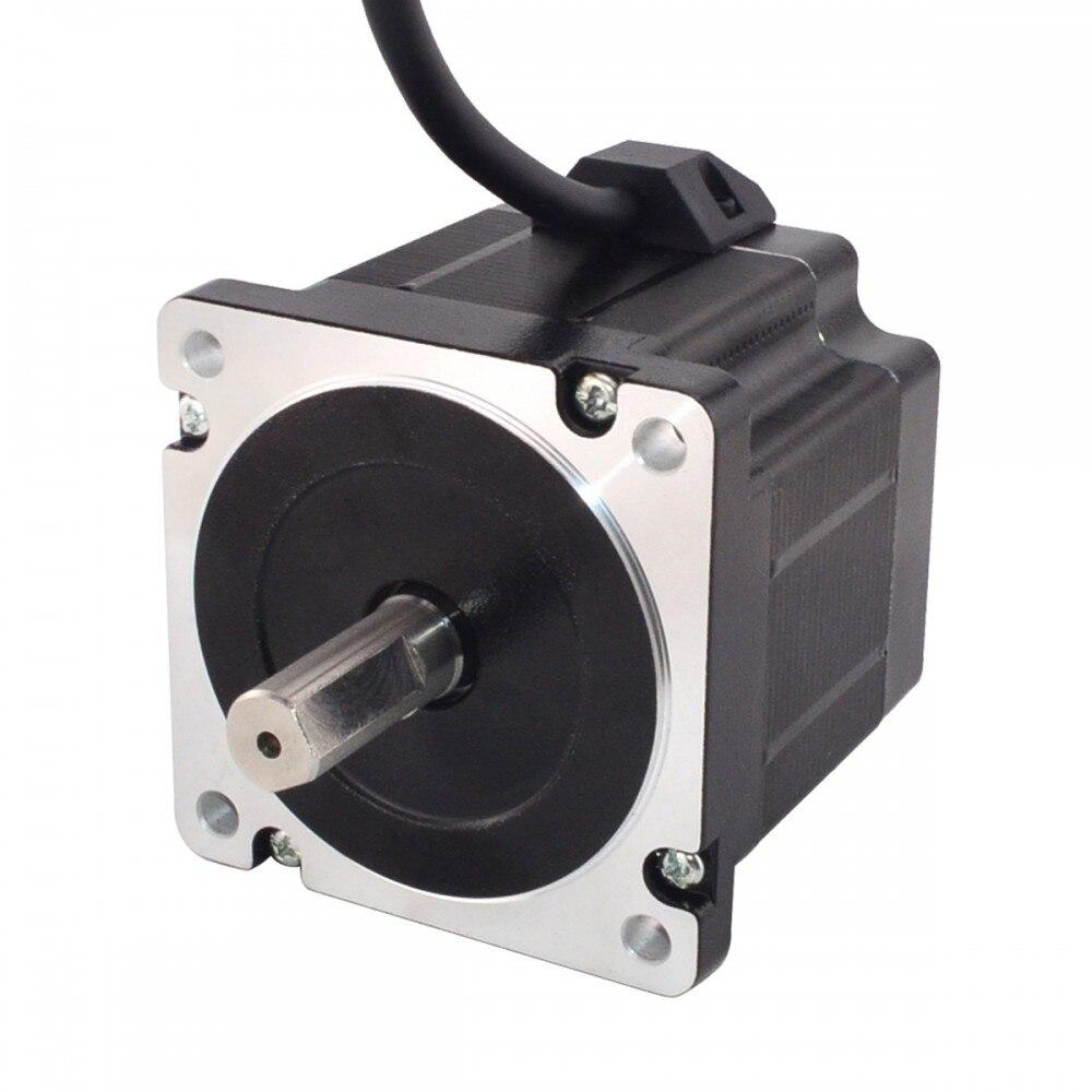 Nema 34 Stepper Motor 76mm 3.6N.m(509.90oz.in) 4.0A 4-lead Nema34 Step Motor for CNC Plasma CuttingNema 34 Stepper Motor 76mm 3.6N.m(509.90oz.in) 4.0A 4-lead Nema34 Step Motor for CNC Plasma Cutting