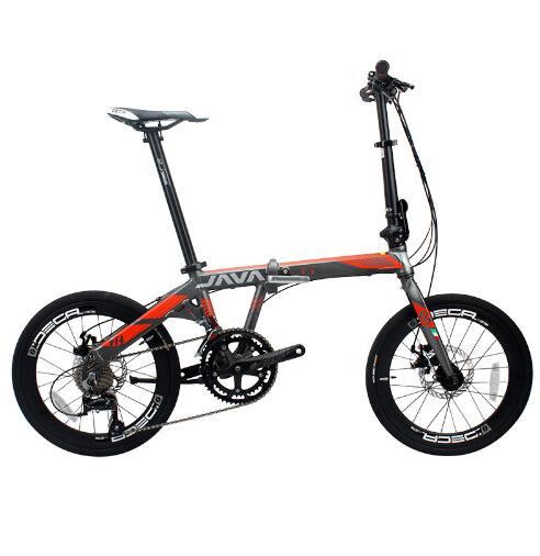 Folding Bike Bicycle Double-Disc-Brakes Aluminum-Alloy Adult Urban 20inch 18-Speed Unisex