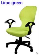 Verde lima color lycra ajuste cubierta para silla de oficina con reposabrazos silla de la computadora silla del spandex cubierta decoración al por mayor