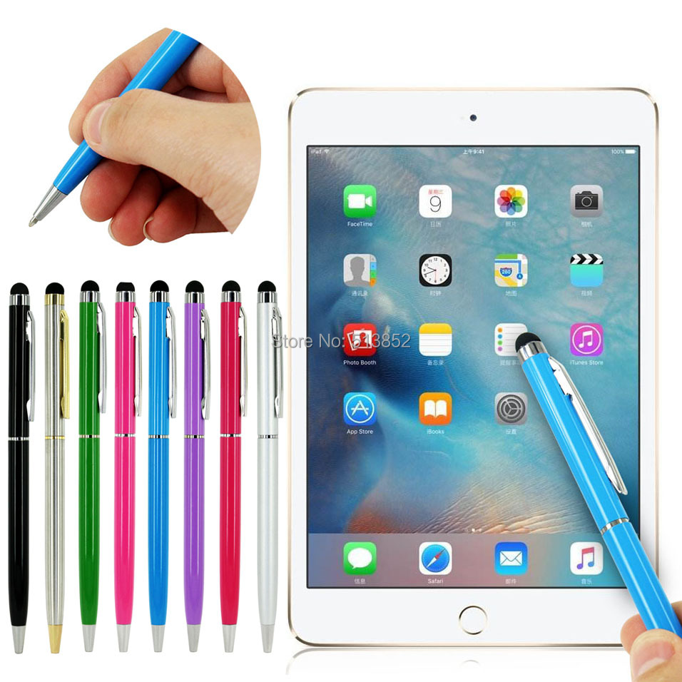 2 In 1 Stylus Touch Pen + Ball Pen For IPad Samsung Asus Acer Tablet Stylus Suit For Universal Smart Phone