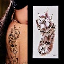 Мода женщины рука плечо татуировки съемный водонепроницаемый временные татуировки тела наклейка цветок сливы