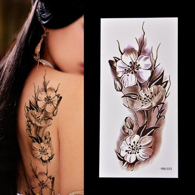 Moda Mujeres Brazo Hombro Tatuaje Desmontable Tatuaje Temporal Flor