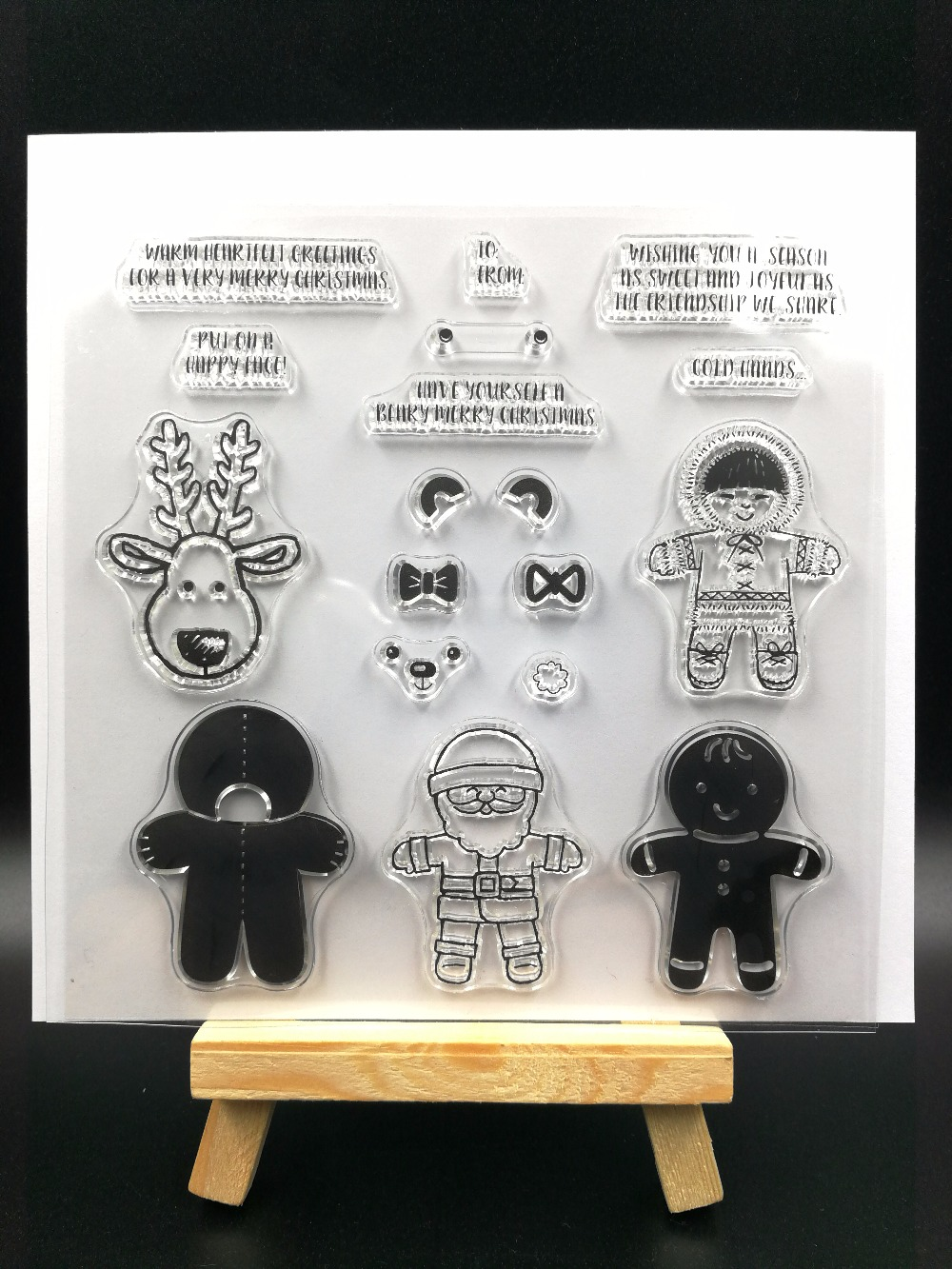 Christmas baby  Transparent Clear Silicone Stamp/Seal for DIY scrapbooking/photo album Decorative clear stamp sheets H089