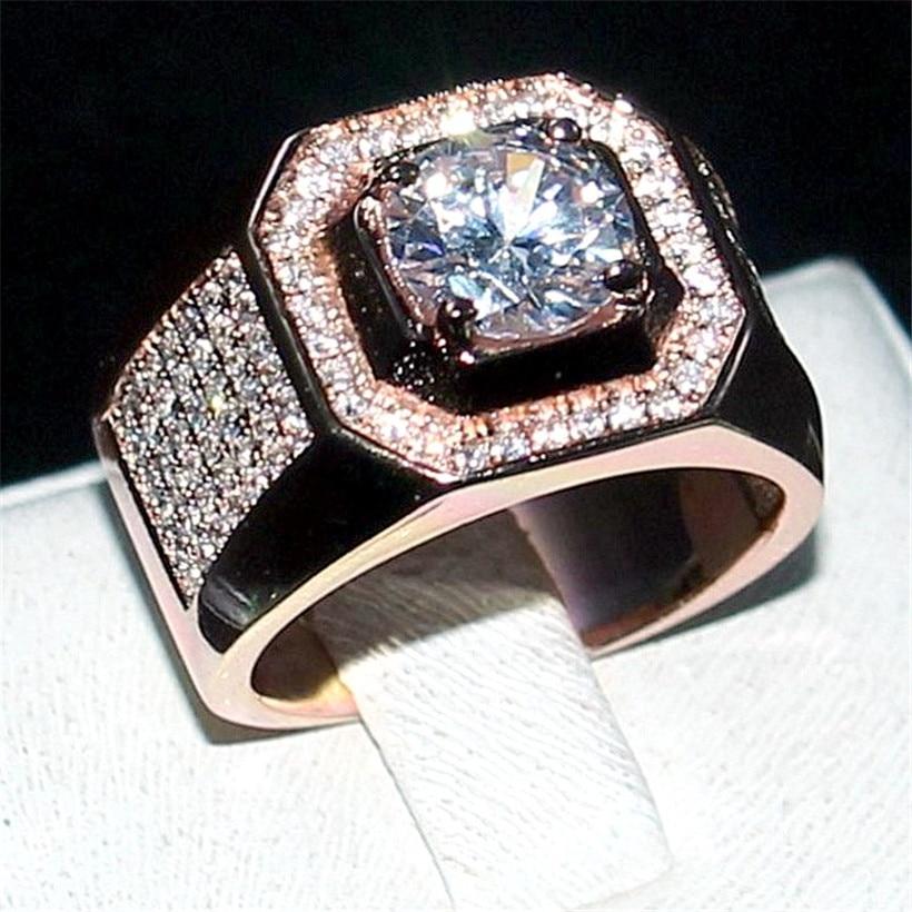 Choucong Bijoux Hommes 925 Sterling Silver & or rose 1.5ct Diamant - Bijoux fantaisie - Photo 5