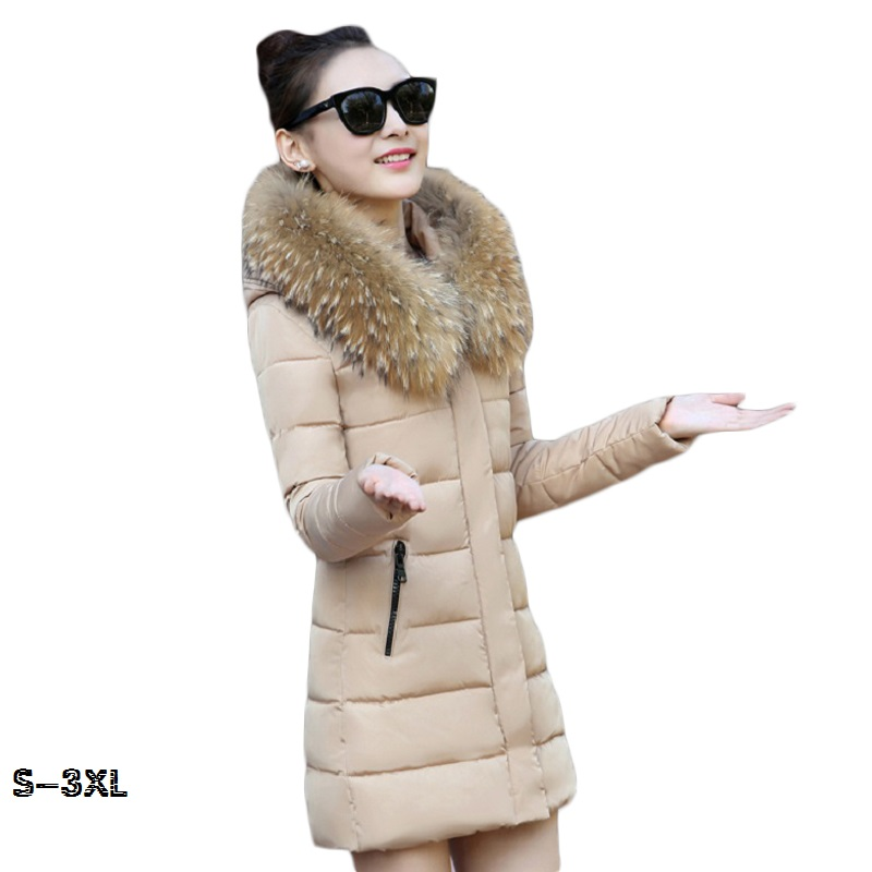 Hot! Fashion Winter Jacket Women 2018 New Winter Coat Women Fur Collar Warm Woman Parka Outerwear Down jacket Parkas size S-XXL 2015 hot new thicken warm woman down jacket coat parkas outerwear raccoon fur collar luxury slim long plus size xl hooded splice