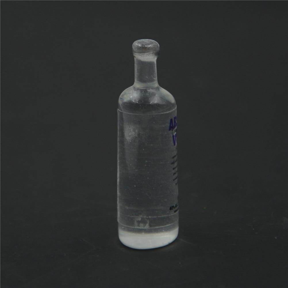 4PCS 1//6 Scale Miniature Dollhouse Wine Bottle Vodka Drinks Model Doll Toytk