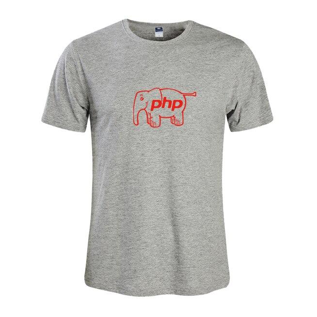 2018 Летняя мода для Мужская футболка мастер NERD freak хакер pc gamer программиста систем топы для мальчиков футболки Мужчины PHP Слон одежда