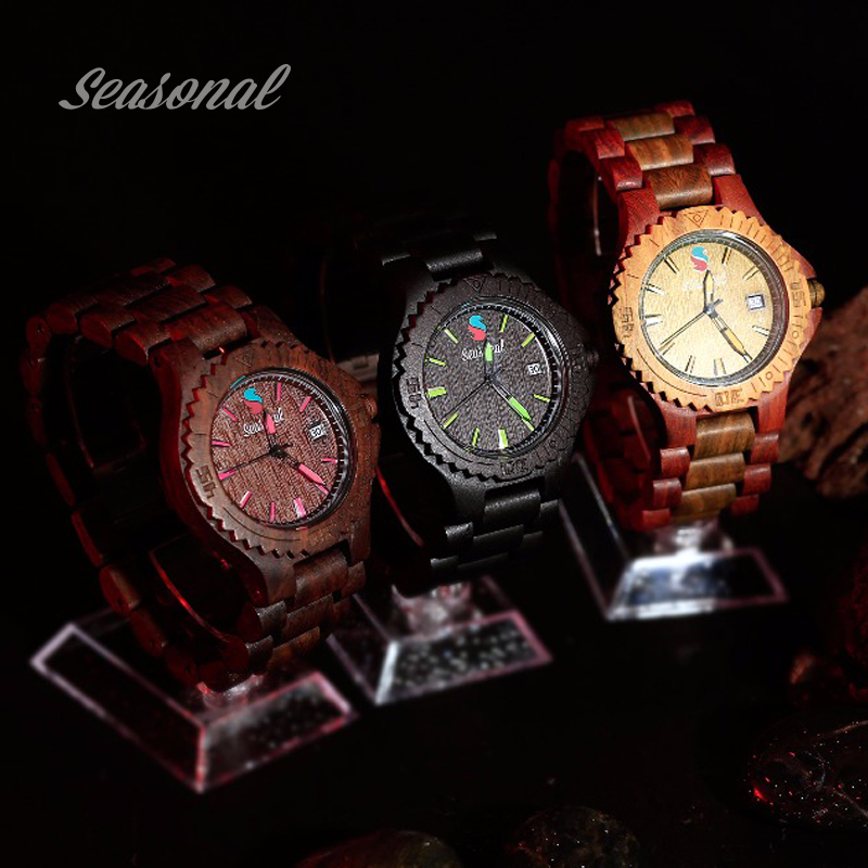 Top Luxury Brand Wood Watches Men relogio masculino Date Quartz Clock Creative Color Analog Dial Bamboo Band Wrist WatchTop Luxury Brand Wood Watches Men relogio masculino Date Quartz Clock Creative Color Analog Dial Bamboo Band Wrist Watch