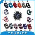 22mm nylon reloj banda + herramientas para samsung gear s3 clásico/Frontier Pasador de Acero Inoxidable Hebilla de Correa de Tela Correa de Pulsera de la Muñeca