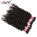 7A Peruvian Deep Wave Virgin Hair 4 Pieces/lot Unprocessed Peruvian Virgin Hair Bundles UNice Hair Company Deep Wave Human Hair