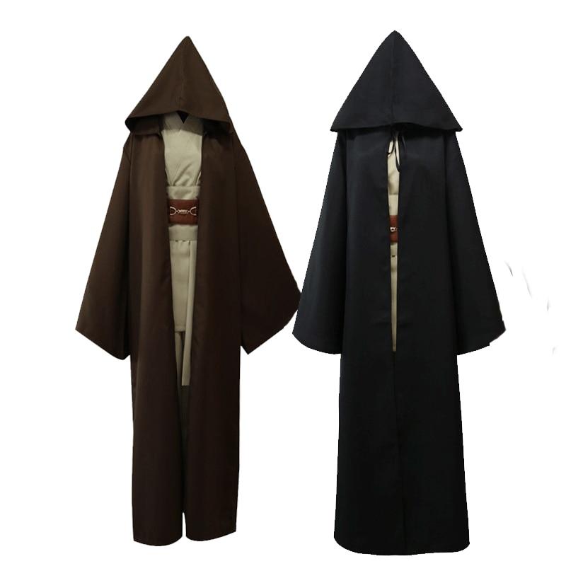 Star Wars Kit Noir Guerrier Darth Ouidah Jedi Knight manteau de bande dessinée cos Costume