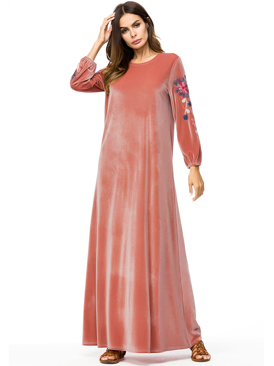 Dubai muçulmano Vestido maxi abaya jalabiya islâmico