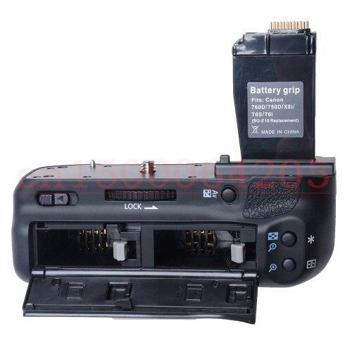 Poignée de batterie poignée d'alimentation de batterie support de prise en main pour BG-E18 pour Canon 760D 750D iX8 T6S T6i appareil photo reflex numérique