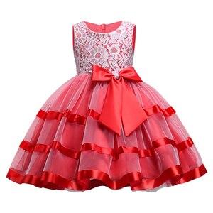 Детская одежда, Новое Кружевное платье для девочек, детское свадебное платье на день рождения, костюм принцессы для выпускного вечера для д...