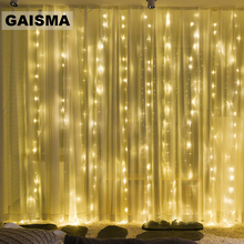 6M x 4M LED Window Curtain Lights Garland Christmas Decorations Wedding Fairy Lights Party New Year Holiday Lighting Outdoor
