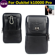 Genuine Leather zipper pouch Belt Clip Waist Purse Case Cover for Oukitel k10000 Pro 5.5″  Mobile Phone Bag case Free Shipping