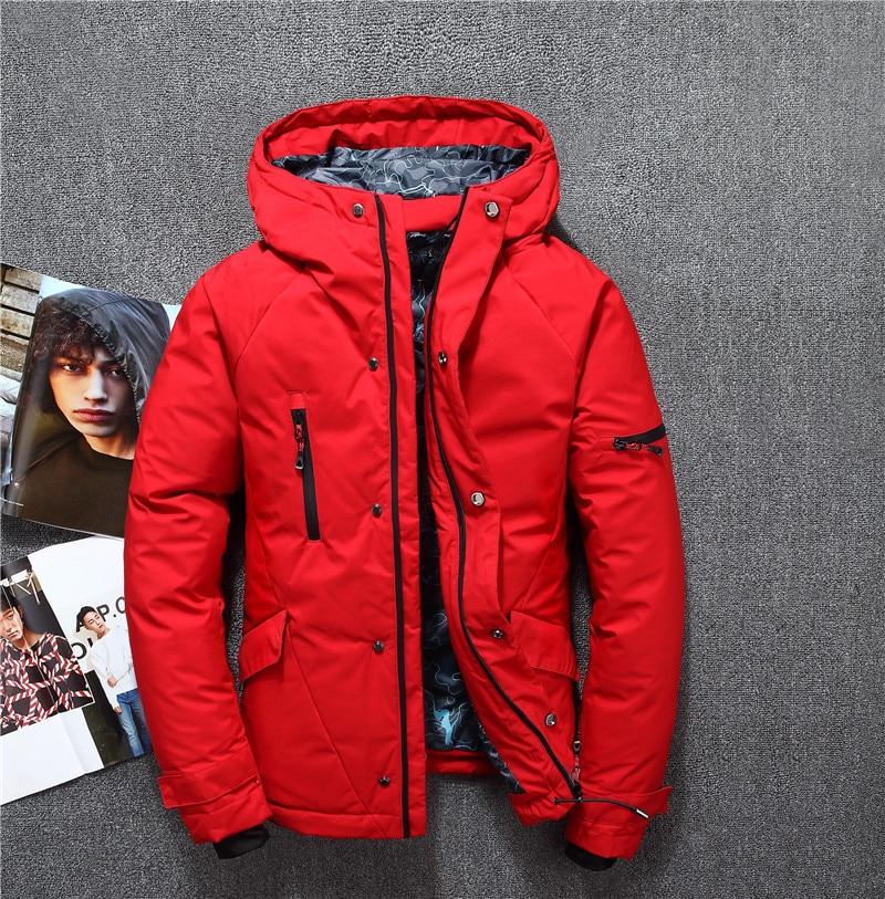 Pour D'hiver Manteau Survêtement Vers Noir Marque Hommes rouge Le De kaki Vêtements Canard Léger Bas Occasionnel Veste Duvet gris 44vqr